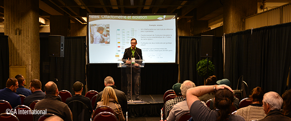 Presenting at a conference
