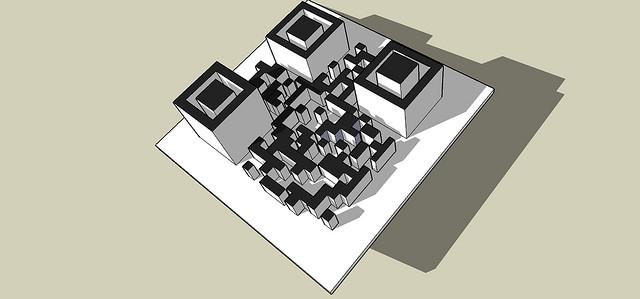 Exemple de code-barres 3D en relief par ga-international.com