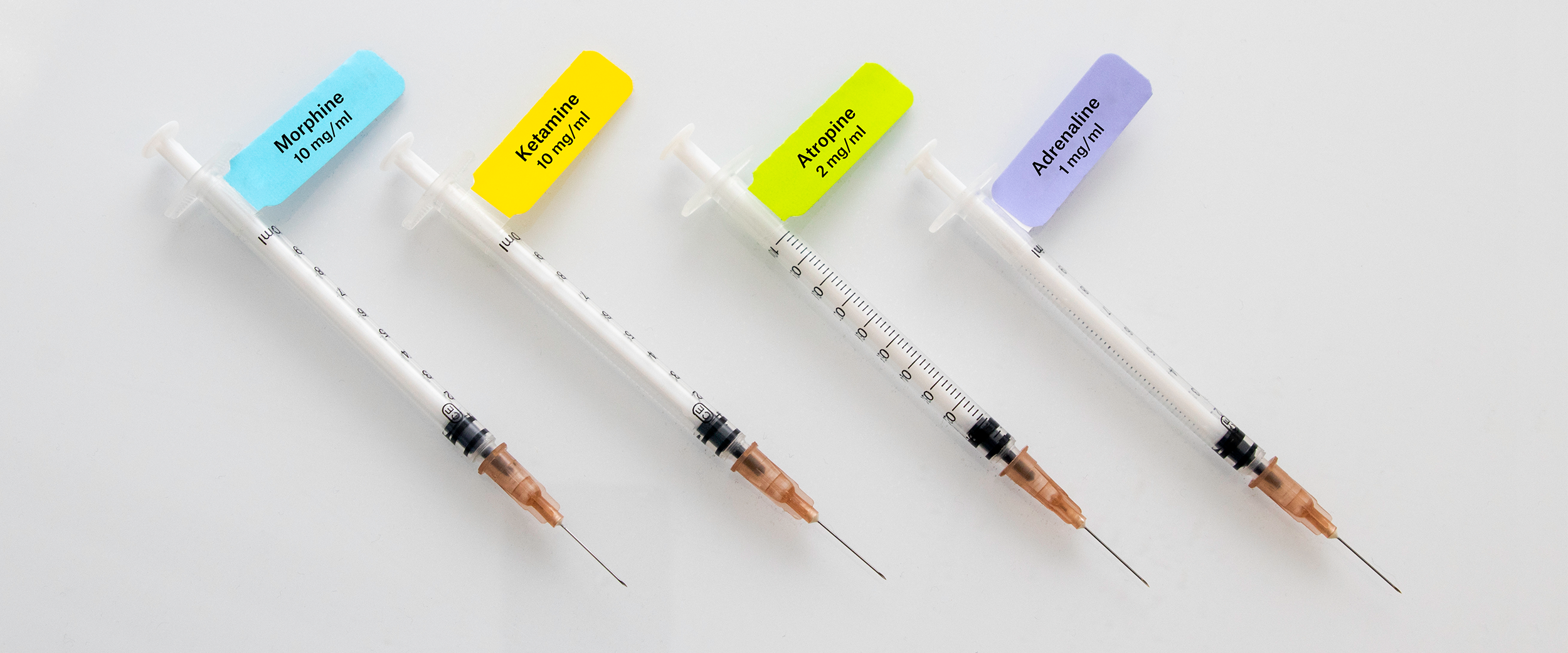 Labeling Syringes - Color Coded