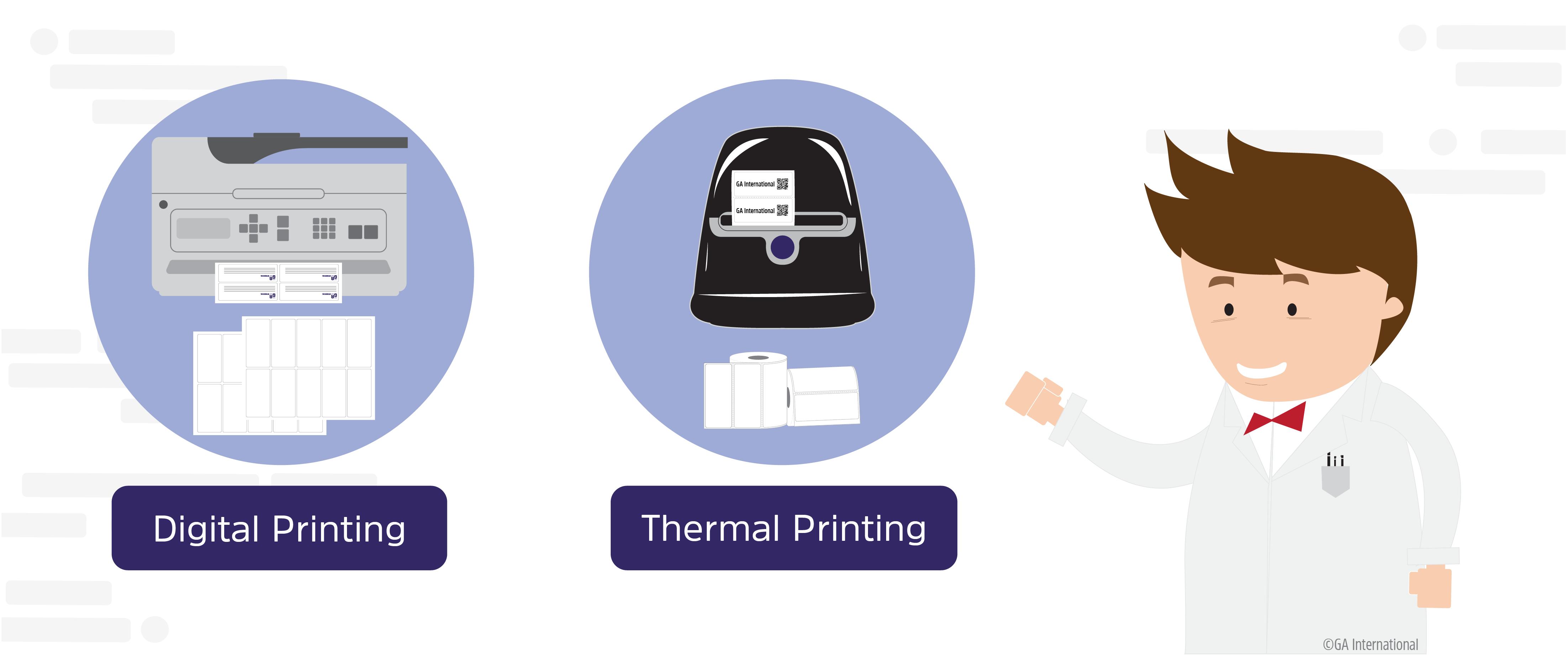 Digital vs Thermal Label Printing Technologies