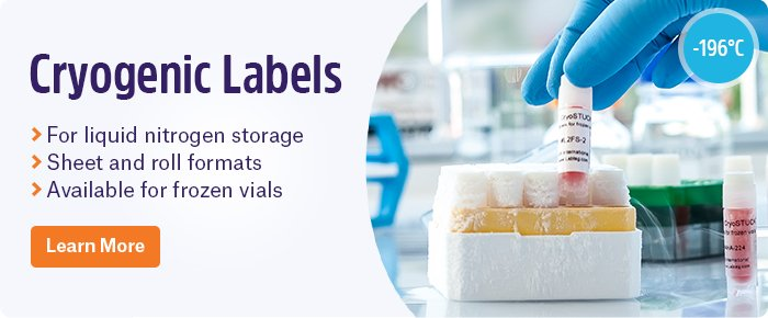 Cryogenic Labels for storage in liquid nitrogen