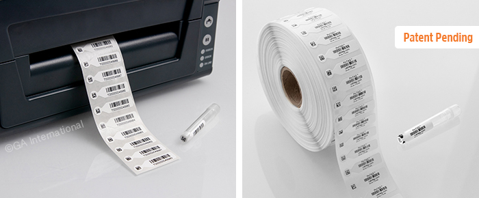 Labels for 2D-barcoded tubes