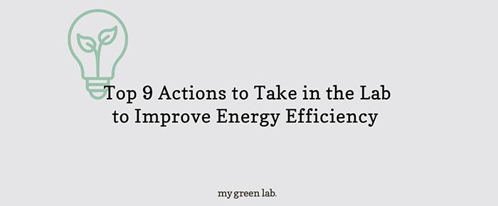 Improve energy effeciency